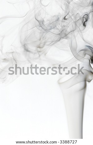 Wallowing semi-transparent smoke on white background. - stock photo