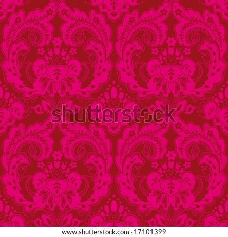 Fabric brocade red stock photos illustrations and vector art