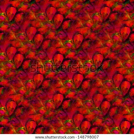 wallpaper art watercolor background, seamless paint background , texture abstract background , pattern abstract red green background