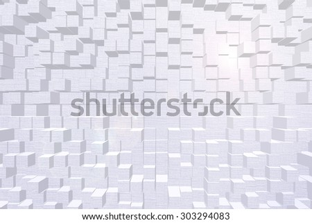 Wallpaper background effect 3d block style