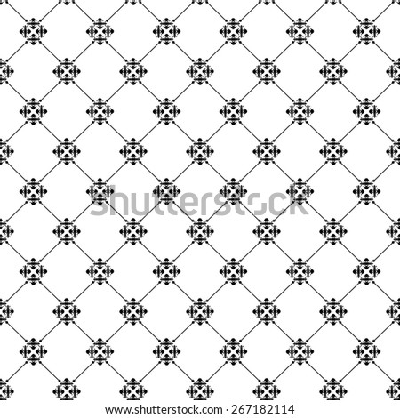 Wallpaper Background. Seamless Pattern for your design. Abstract background. Vintage. - stock photo