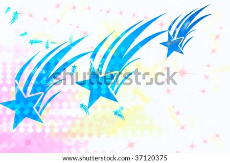 wallpaper illustration with three blue stars