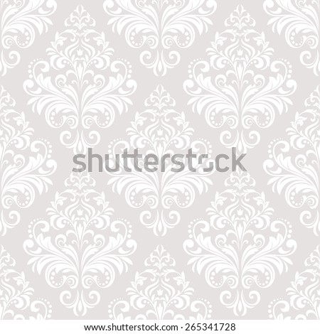 Wallpaper in the style of Baroque. A seamless  background. Floral ornament. - stock photo