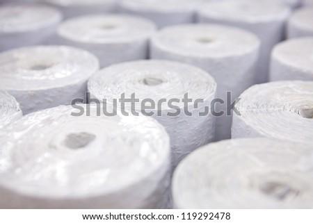Wallpaper rolls - stock photo