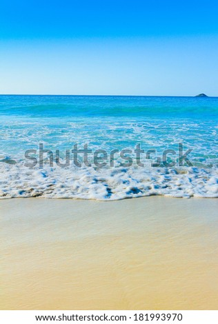 Wallpaper Tide Scene  - stock photo