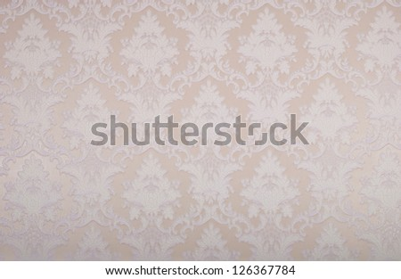 Wallpaper with floral ornament with leafs and flowers for vintage design - stock photo