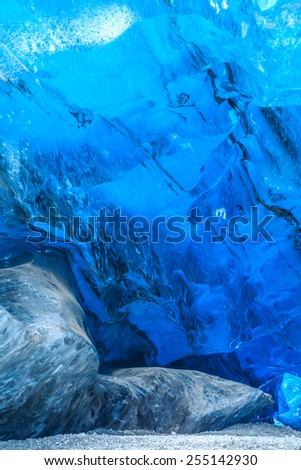 Walls ice cave in Iceland