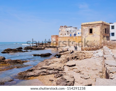Walls of Essaouira - beautiful city built on the coast of Morocco, Africa