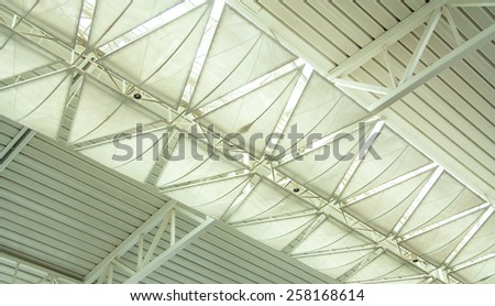 walls of the roof inside the office. - stock photo