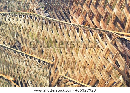 walls of woven bamboo