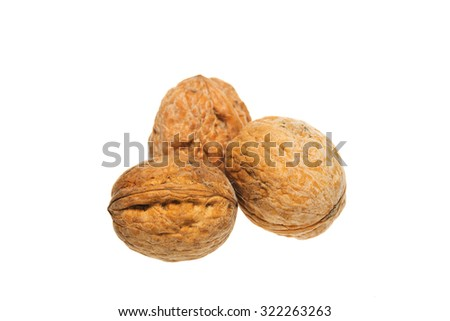 Walnut isolated on a white background.