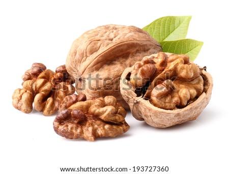 Walnuts in closeup - stock photo