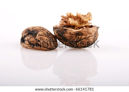 Walnuts in shell, and without