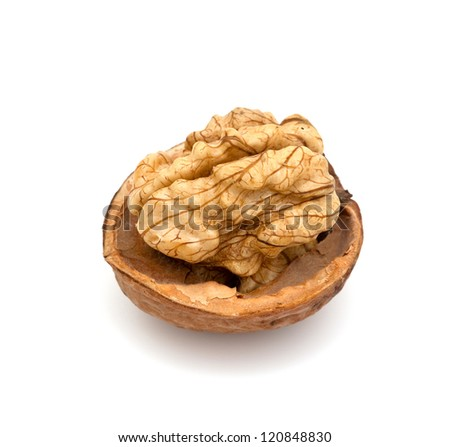walnuts isolated on white - stock photo