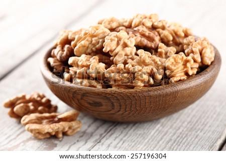 Walnuts kernel - stock photo