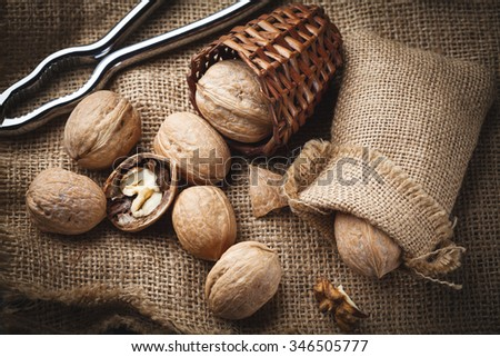 walnuts with nutcracker