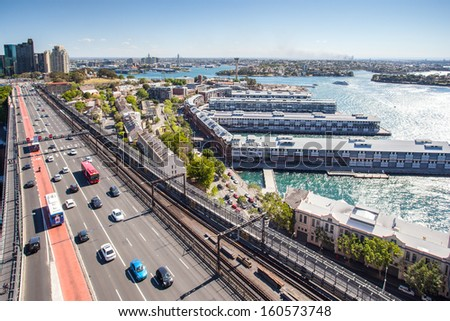 Walsh Bay From The Harbour Bridge
