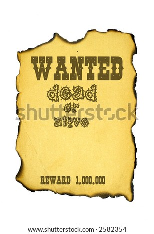 Wanted dead or alive Can be use as background