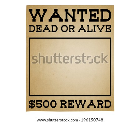 Wanted Poster - stock photo