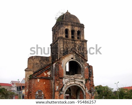 War Evidence of Tam Toa Church Steeple, Vietnam