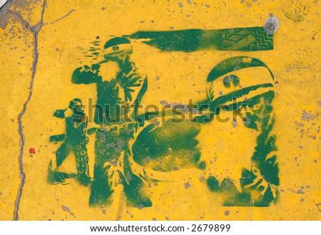 War Graffiti - stock photo