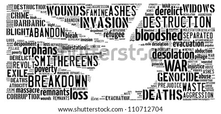 War image: text graphics