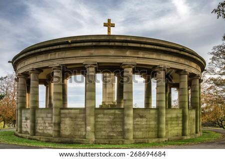 War memorial in Greenhead park, Huddersfield. - stock photo