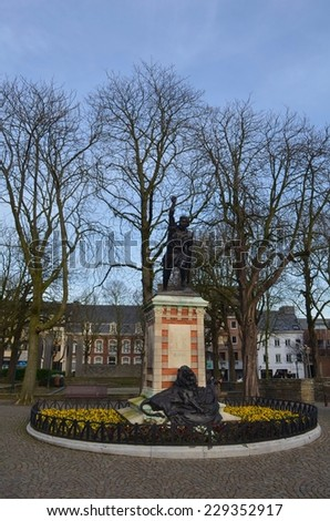 War memorial situated on the main square of Tienen.