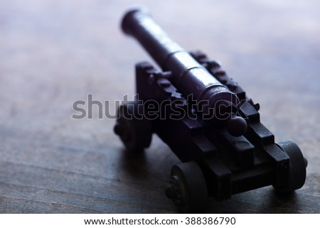 War or conflict concept image. Extremely shallow depth of field. Low key. - stock photo