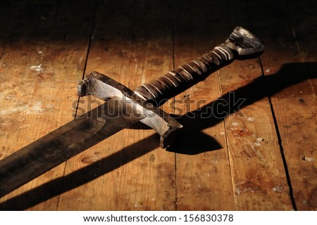 Real Medieval Swords Medieval Knight Sword on Dirty
