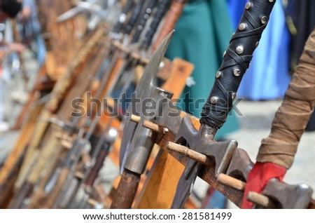 War Symbol Medieval Weapons Close Combat Stock Photo Edit Now