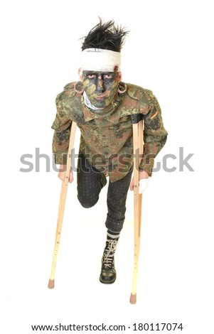 war veteran - stock photo
