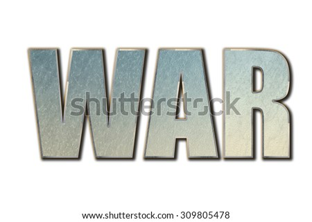 War word concept on white background