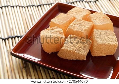 warabi mochi japanese sweets - stock photo