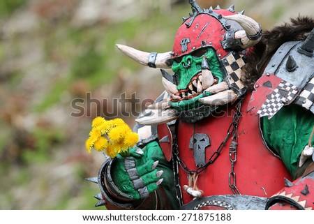 warcraft hero - stock photo