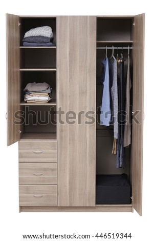 Wardrobe isolated on white background. Include clipping path.