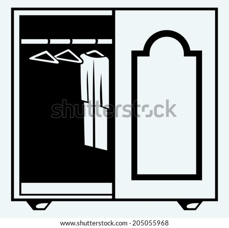 Wardrobe with clothes. Raster version - stock photo