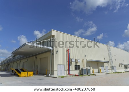 Warehouse Building at Outdoors