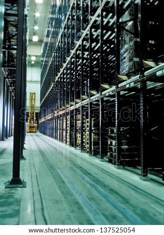 warehouse logistics - stock photo