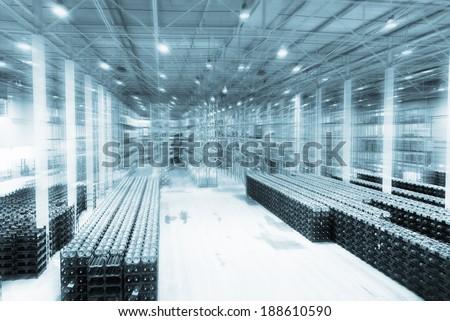 Warehouse of storage of finished goods - stock photo
