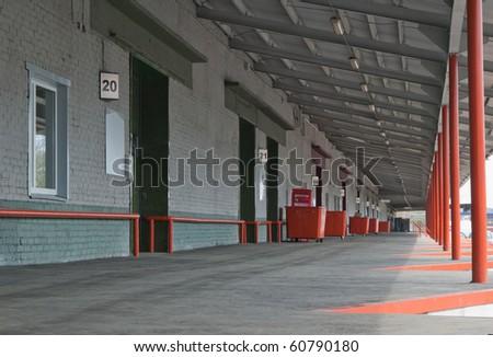 Warehouse platform - stock photo