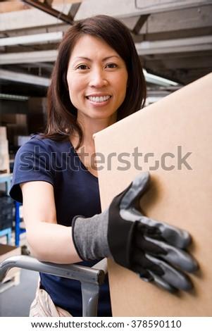 Warehouse worker - stock photo