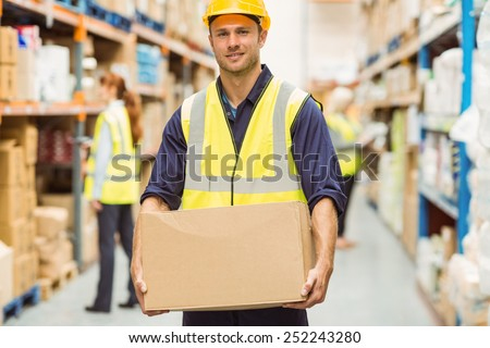 Man Carrying Box Stock Images Royalty Free Images