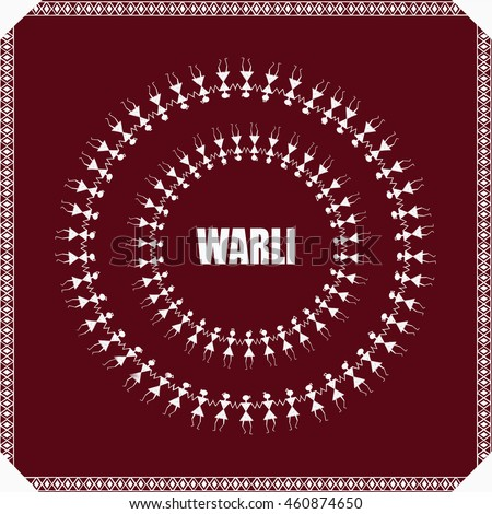 Warli painting maharashtra india stock illustration 460874650 warli painting maharashtra india altavistaventures Image collections