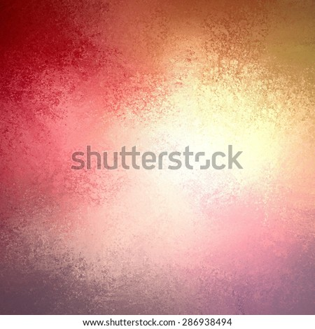 warm autumn background in red pink gold yellow and orange with white center and vintage grunge background texture, colorful background design - stock photo