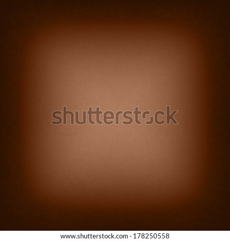 warm brown background black border or frame layout, elegant smooth bright center texture and dark vignette edge, abstract brown paper  - stock photo