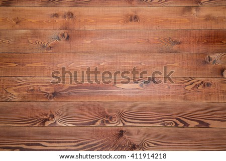 warm brown plank wood wall background, copy space for your text - stock photo