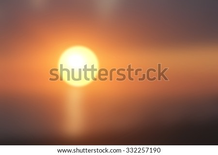 Warm colors used to create abstract sunset background  - stock photo
