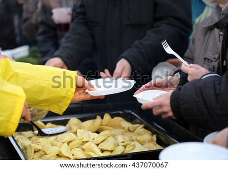 Warm food for the poor and homeless