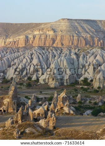 Warm Glow of Sunset on the Fairy Chimneys of Cappadocia